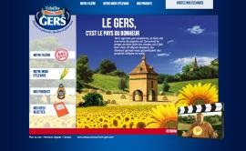 Poulet du Gers, site vitrine de la marque du groupe fermiers-landais